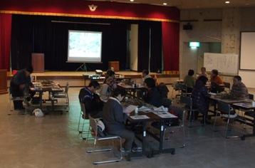 イベント会場の徳地山村開発センター