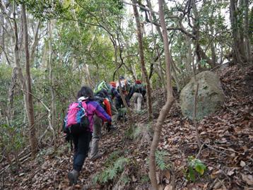 要害岳登山道を歩く