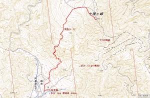 十種ヶ峰地図