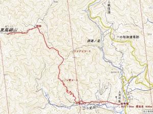 東鳳翩山地図